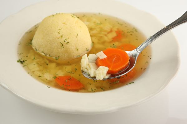 Matzoh Ball Soup with Carrots
