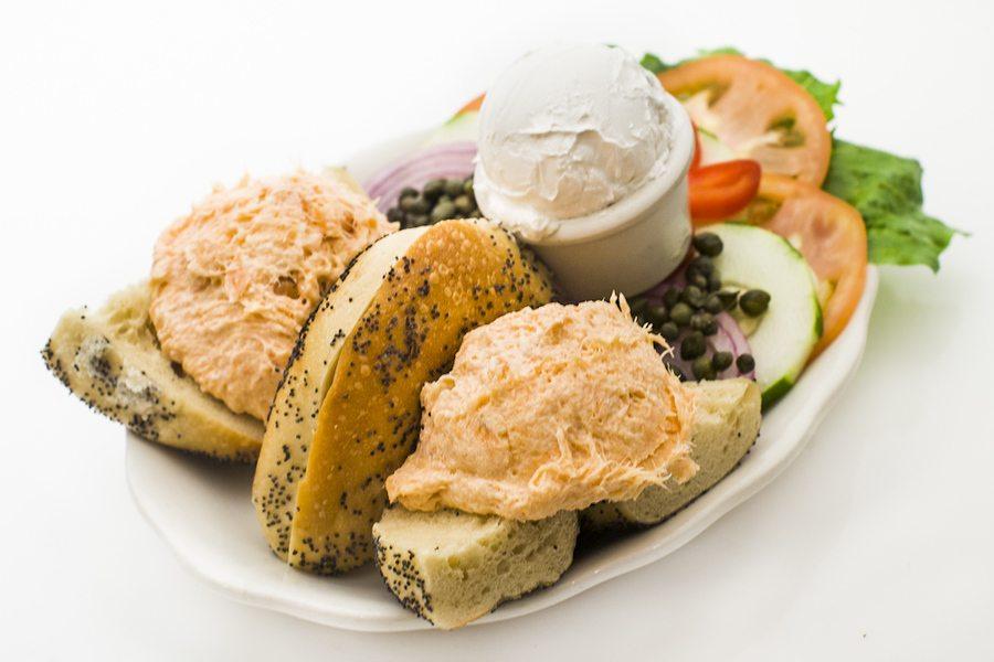 Baked Salmon Salad Sandwich