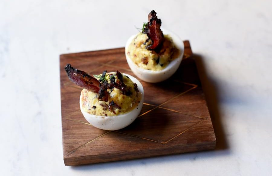 Pastrami Deviled Eggs